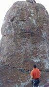 Rock Climbing Photo: Kinda blurry photo, but you get the idea.