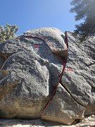 Rock Climbing Photo: The lines