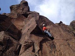 Rock Climbing Photo: Variation to Chosspector; could be led with good r...