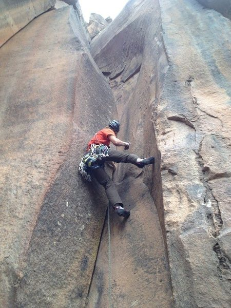 Rock Climbing Photo: Tight hands with good stemming in the corner made ...