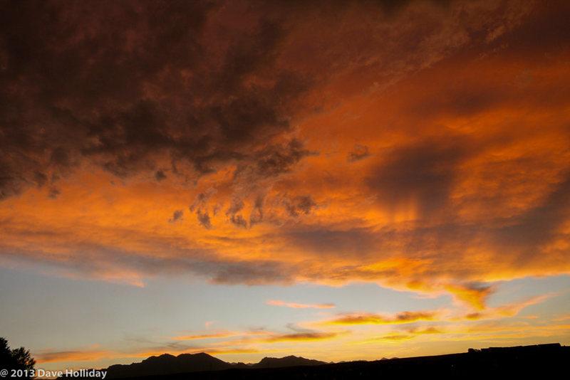 Sunset over the Flatirons.