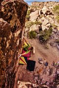 Rock Climbing Photo: Working from the shelf to the compression section ...