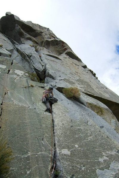 Rock Climbing Photo: start of pitch 2. Nice crack before the more adven...
