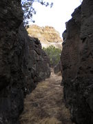 Rock Climbing Photo: Subterranean lava bouldering & La Vieja ...