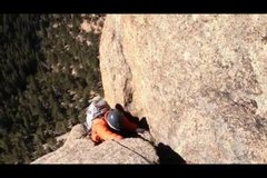 Rock Climbing Photo: Aaron almost to the top of P1!