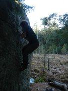 Rock Climbing Photo: Mike on Touchdown Giants