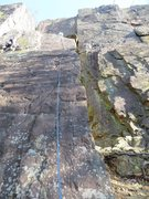 Rock Climbing Photo: Follow the blue rope