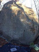 Rock Climbing Photo: Full Moon, V5.  Very cool problem.