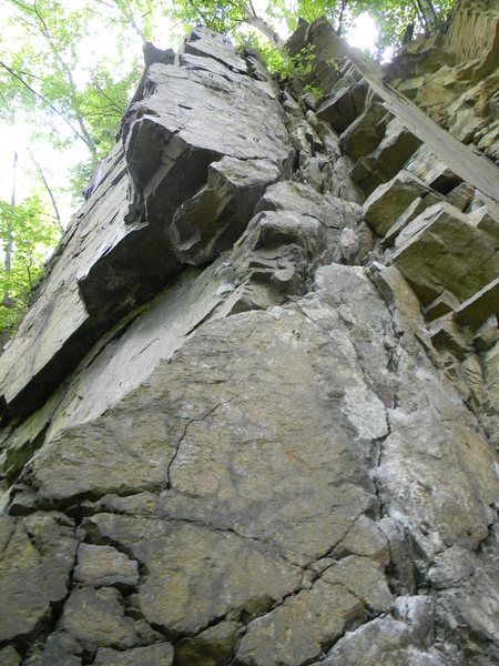 Looking up from the base