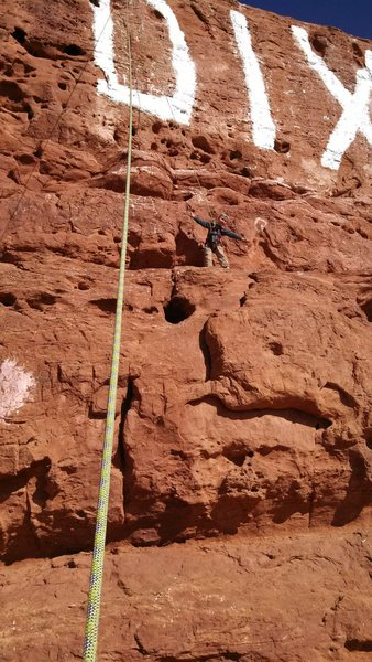 Rock Climbing Photo: My 5 year old at Dixie rock.