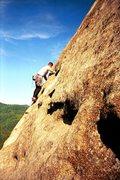 Rock Climbing Photo: Falcon, looking glass rock, NC