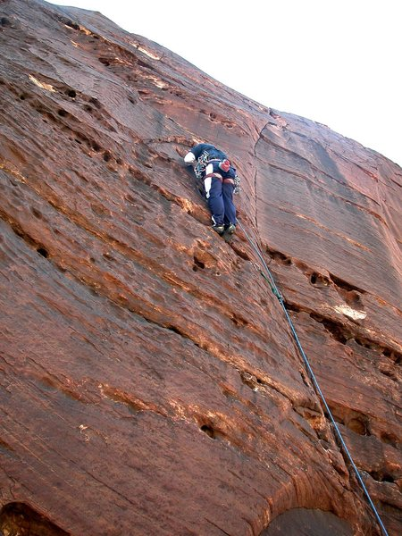 Rock Climbing Photo: Clint leading couldn't be schmooter, Red Rocks, NV