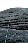 Rock Climbing Photo: Nose P1, Looking Glass Rock, NC