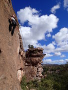 Rock Climbing Photo: Suzanne on 'The good, the bad, and he grungy'