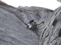 T. Chrudinsky on the 3rd pitch of Silk Road.