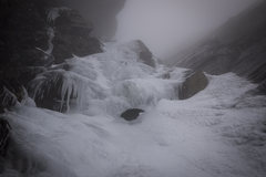 Rock Climbing Photo: Thin ice after warm week. Nov. 11th 2013. Looking ...