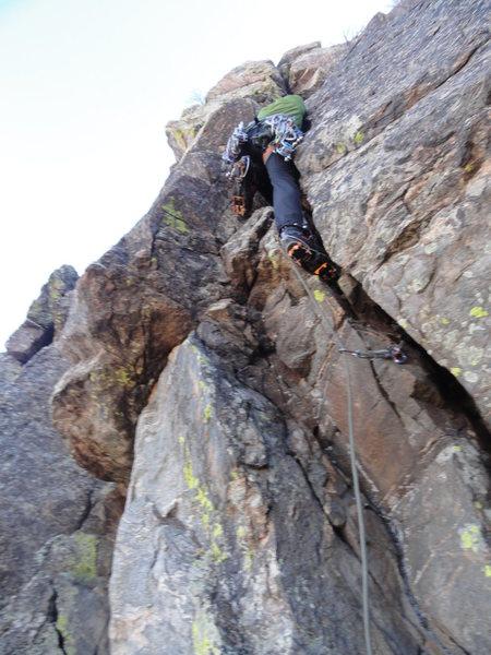 Rock Climbing Photo: Chris Gibbs leading The Tree Route.