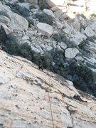 Rock Climbing Photo: Jim Following Chrome Fleece. 11-17-2013.