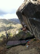 Rock Climbing Photo: Thomas Townsend wearing a beanie.