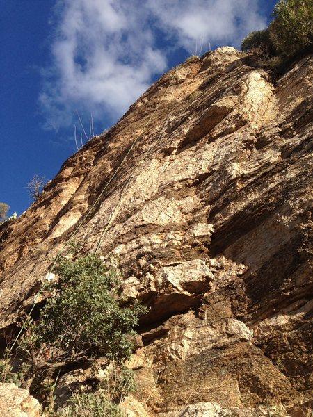 Bolt-line for Seams like a climb