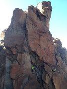 Rock Climbing Photo: Climbing Bong Crack below Where the World Ends