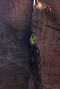 Rock Climbing Photo: Working through the crux.
