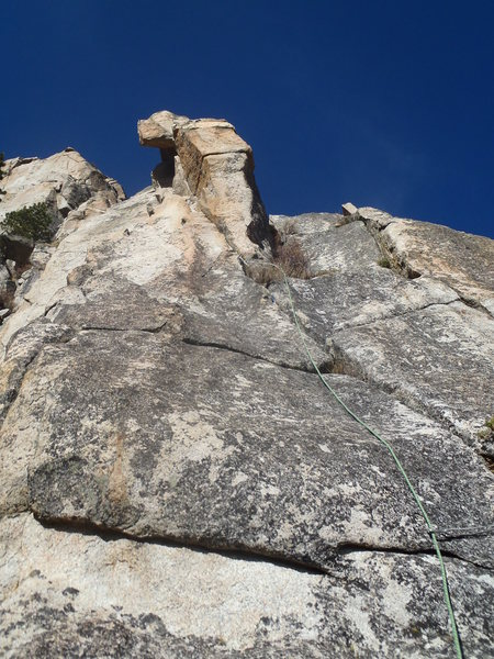 Rock Climbing Photo: Pitch 2 goes up the right side of the arete.
