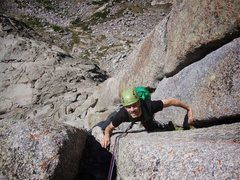 Rock Climbing Photo: Sean finishing up p2 of the South Buttress. Such a...
