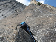 Rock Climbing Photo: Awesome 6th Pitch splitter