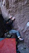 Rock Climbing Photo: Getting into it.