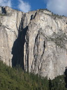 Rock Climbing Photo: Gates of Delirium follows the sunlit dihedral that...