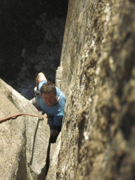 Rock Climbing Photo: Getting blurly on pitch 8 OW. 5.10d