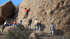 """Rock Climbing Photo: The gang offering support on """"Slotterhouse.&q..."""