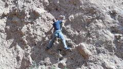 "Rock Climbing Photo: Assessing pockets on ""Urban Cowboy."""