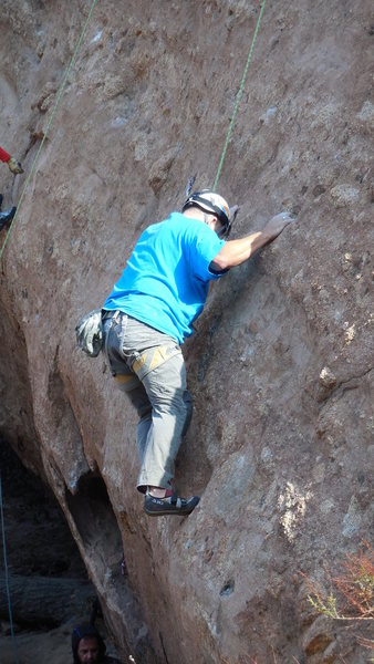 Rock Climbing Photo: Enjoying the incredible knobs and pockets on &quot...