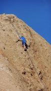 "Rock Climbing Photo: A climber nearing the top of ""Cracker Jacks.&..."