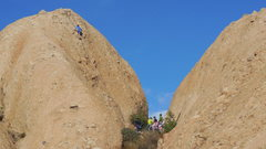 Rock Climbing Photo: A crowd offering moral support for a climber on &q...