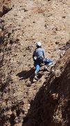 "Rock Climbing Photo: Topping out on ""Aqua Negro."""