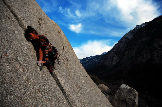 Rock Climbing Photo: Late season Lemon Squeezing.