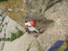 Rock Climbing Photo: Puigmal is an interesting crack line up the north ...
