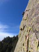 Rock Climbing Photo: Jake on the traverse pitch.