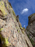 Rock Climbing Photo: P4 of Great Zot to Zot Face; linked with P5.