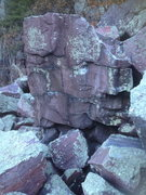 Rock Climbing Photo: The Fukness starts on the left arete on a jug, and...