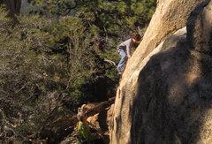 Rock Climbing Photo: Bryn Owen (10) leads Fever Pitch