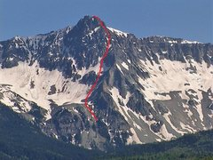 Rock Climbing Photo: Ten High on the north side of Mears Peak.