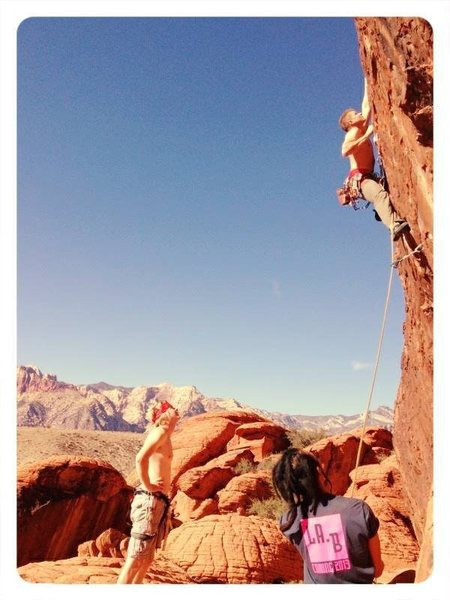 Rock Climbing Photo: Range of Motion, accidently warmed up on this rout...