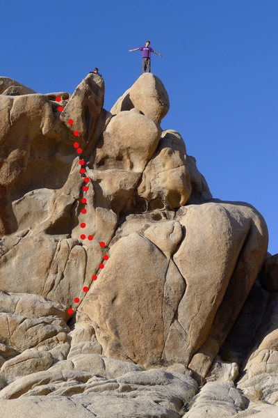 Rock Climbing Photo: Laryngitis - low-angle dihedral and easy jugs unti...