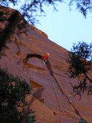 Rock Climbing Photo: in the wide after 90 feet of crisp splitter ... fr...