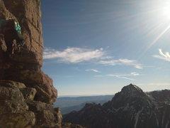 Rock Climbing Photo: The upper East ridge of Dallas, just prior to the ...