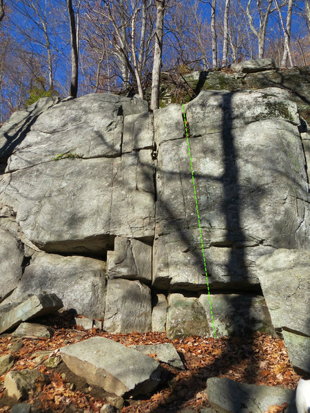 Rock Climbing Photo: Fly (approximate)